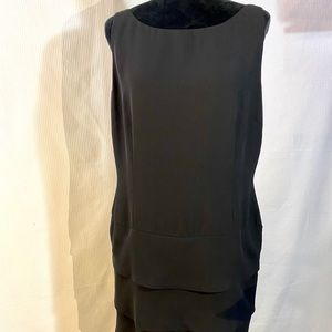 American Living Black Sleeveless Tiered Dress 16
